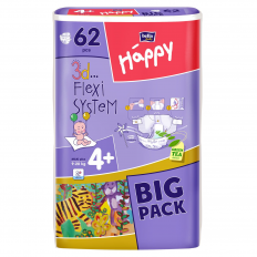 SCUTECE NR. 4+ HAPPY BIG PACK 62BUC