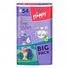 Scutece Happy nr. 6 BIG Pack Junior Extra, 54 buc