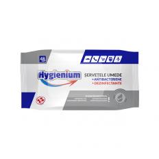 Servetele umede antibacteriene dezinfectante Hygienium 48buc avizate Avizat de Ministerul Sanatatii