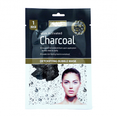 MASCA FACIALA DETOXIFIANTA CU CARBUNE ACTIV BEAUTY FORMULAS 1BUC DETOXIFYING BUBBLE MASK